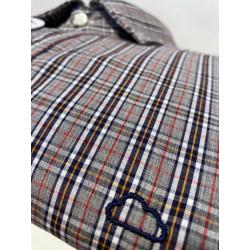Camisa Eolo cuadros grises